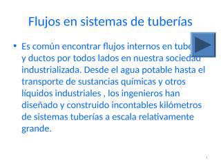 flujos en sistemas de tuberías.ppt