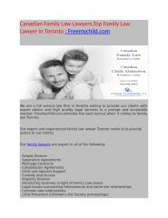 Canadian Family Law Lawyers Top Family Law Lawyer in Toronto  Freemychild com - Copy.docx