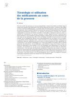 Tératologie et utilisation des médicaments au cours de la grossesse (1).pdf