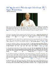 Những câu nói bất hủ của ngài Chủ tịch quốc hội Nguyễn Sinh Hùng.docx