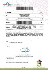 Approval of Transformers (1x1000kVA & 1x1600kVA.pdf