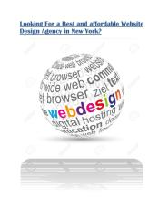 Best & Affordable Website Design Agency in New York.pdf