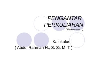 pengantar perkuliahan kalkulus 1 stak 2011 - 2012.ppt