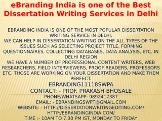 6.eBranding India is one of the Best Dissertation Writing Services in Delhi.pptx