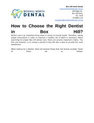 How to Choose the Right Dentist in Box Hill.docx
