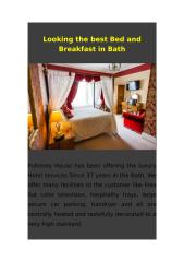 Looking the best Bed and Breakfast in Bath.docx