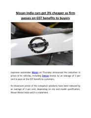 Nissan India cars get 3% cheaper as firm passes on GST benefits to buyers.pdf