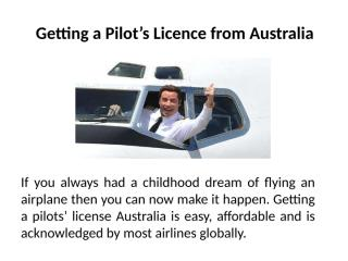 Getting a Pilot's Licence from Australia.pptx